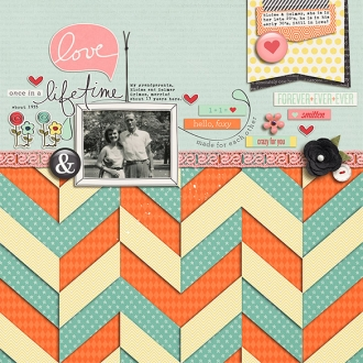 Vintage Angles v6 by Amy Martin; Crazy for You Papers by One Little Bird; Crazy for You Elements by One Little Bird; Eclectomania 2 by Kim Jensen;  Fonts: The Wood by Heather Joyce