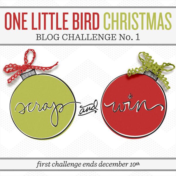 Christmas Theme Challenge | One Little Bird