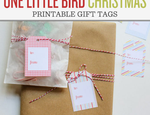 One Little Bird Christmas | Printable Gift Tags