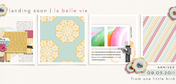 La Belle Vie | a digital kit | by One Little Bird