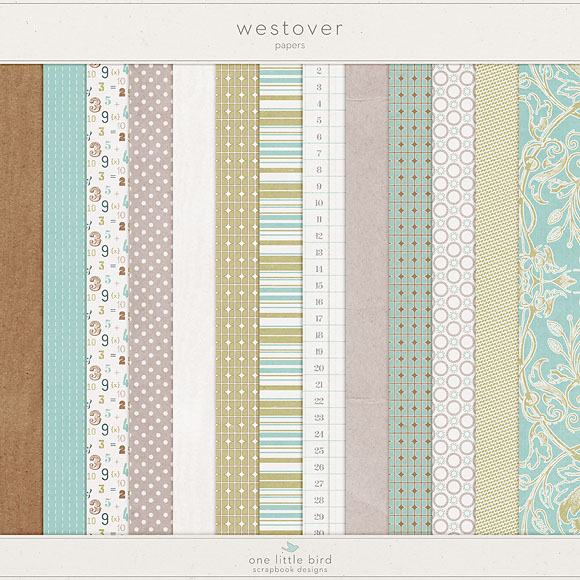 Westover Digital Papers by One Little Bird