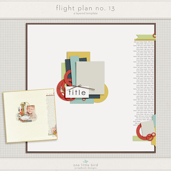 Free Template | Flight Plan No. 13 by One Little Bird