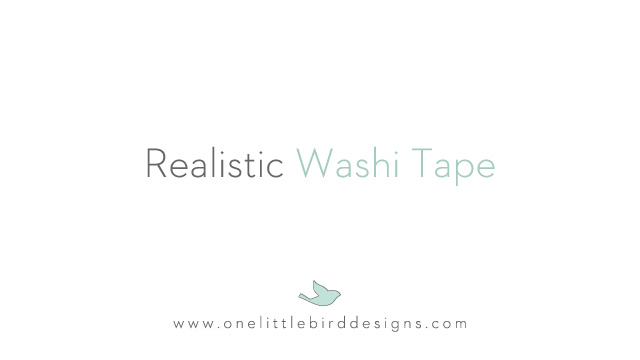 Dodging & Burning Washi Tape by One Little Bird