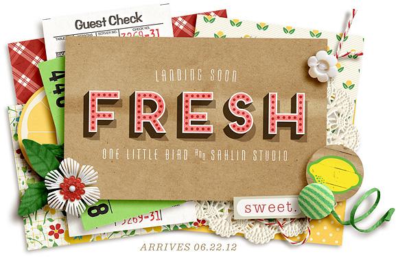 Fresh Collaboration | One Little Bird + Sahlin Studio | Arrives 6/22/2012
