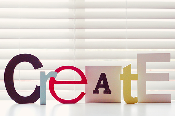 Create Desk Letters | One Little Bird