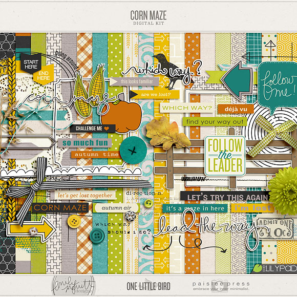 Corn Maze Collaboration | One Little Bird + Emily Merritt Designs + Paislee Press