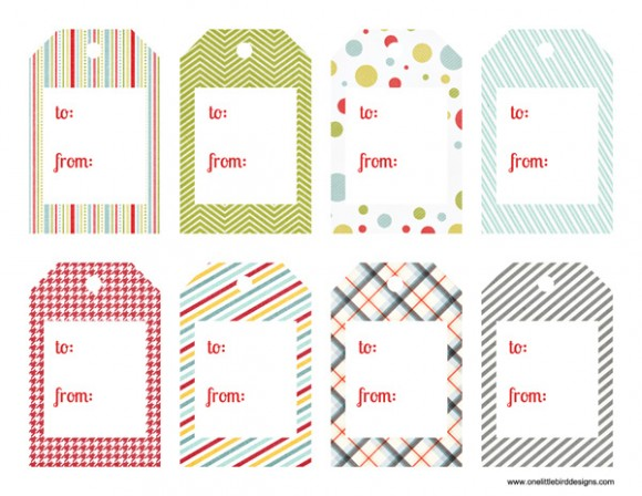 graphic regarding Christmas Tags Printable named Printable Present Tags