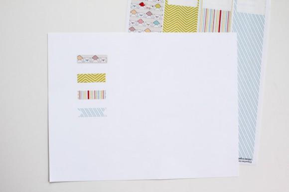 Printable Washi Tape | One Little Bird