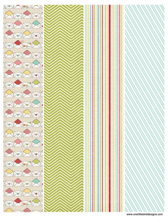 Printable Washi Tape | One Little Bird