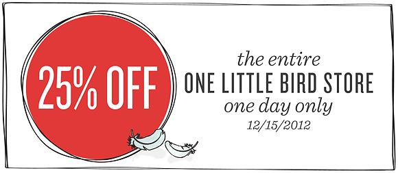 Save 25% Storewide | One Little Bird
