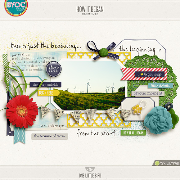 How It Began | Digital Scrapbooking Collection | One Little Bird