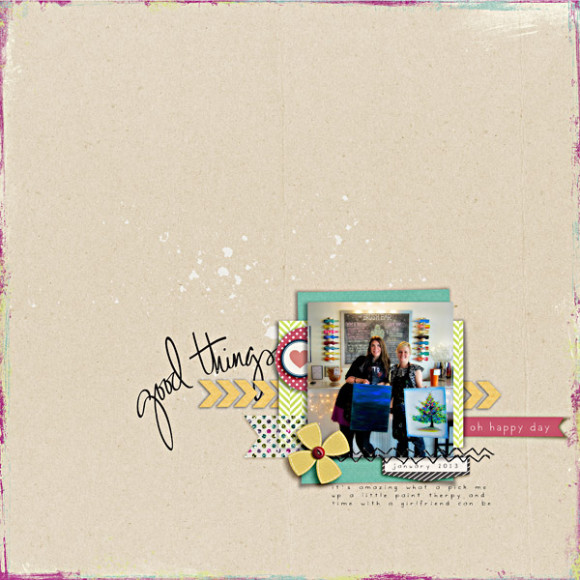 Good Things Halle | February Digital Scrapbooking Challenge Winner