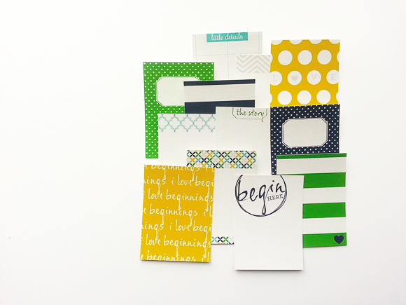 How It Began Journaling Cards | One Little Bird