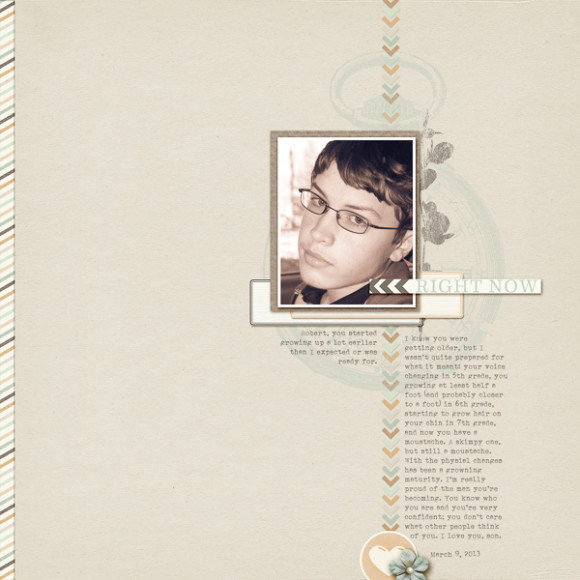 Digital Scrapbooking | New Growth Challenge | One Little Bird