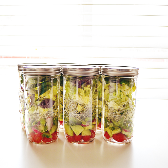 Mason Jar Salads | One Little Bird