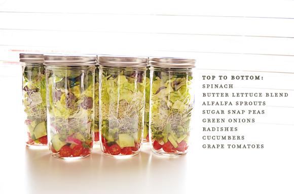 Mason Jar Salads   One Little Bird