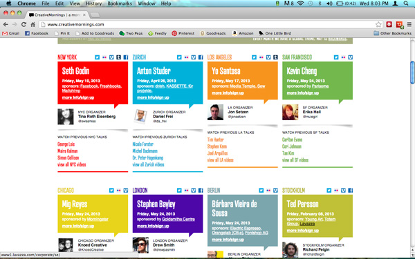 onelittlebird-creative mornings homepage