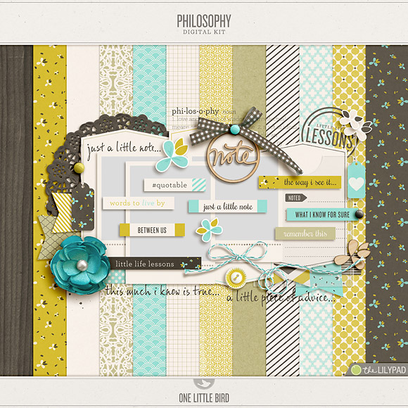 Philosophy | Digital Scrapbooking Kit