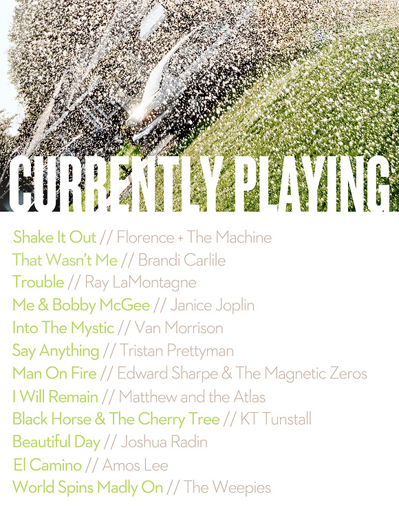 My Current Playlist | June 2013 | One Little Bird