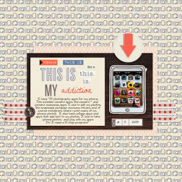 Digital Scrapbooking | Aug Featured Kit | Retrospective