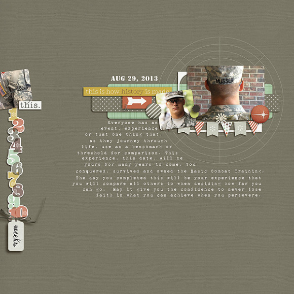 Layout by Lori using Narrative | Digital Scrapbooking | One Little Bird