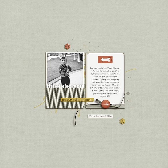 Layout by Kelly using Narrative | Digital Scrapbooking  | One Little Bird