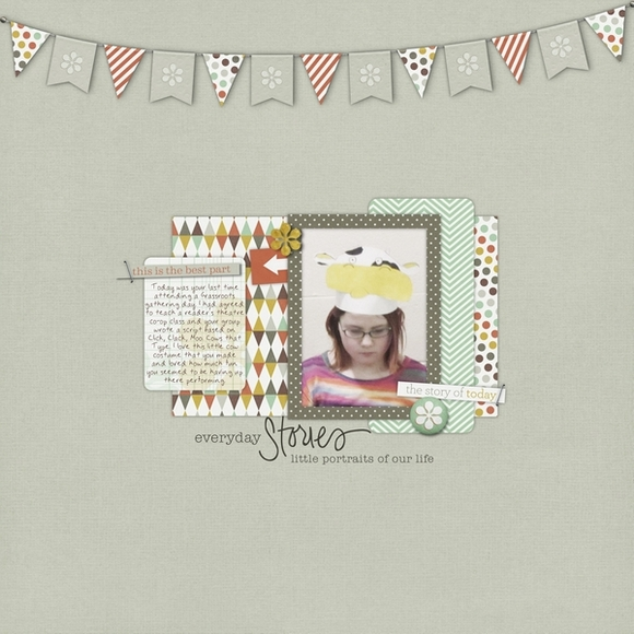 Layout by Sarah using Narrative | Digital Scrapbooking  | One Little Bird