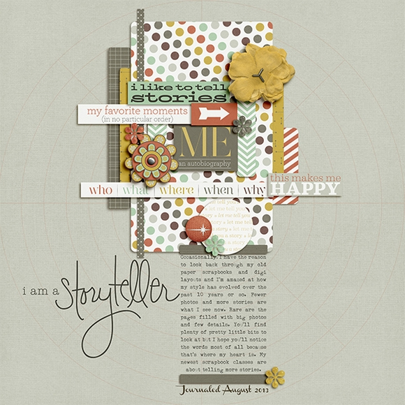 Layout by Stacy using Narrative | Digital Scrapbooking  | One Little Bird