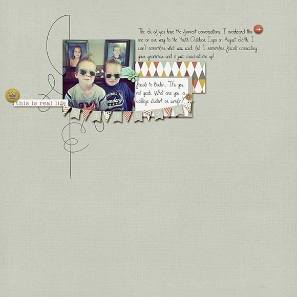 Layout by Tali using Narrative | Digital Scrapbooking  | One Little Bird