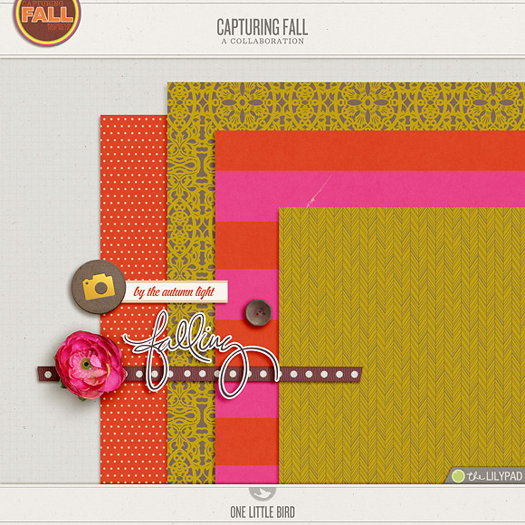 Capturing Fall Facebook Fan Exclusive Download | One Little Bird