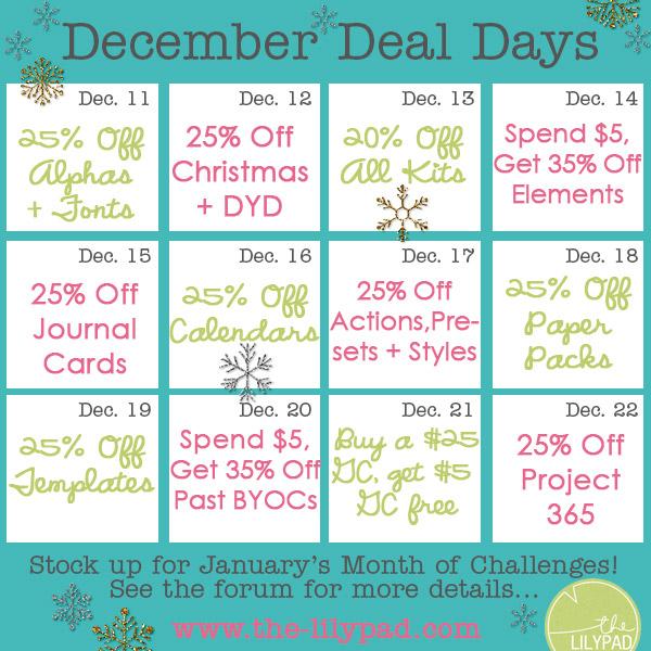 December Deal Days 2013