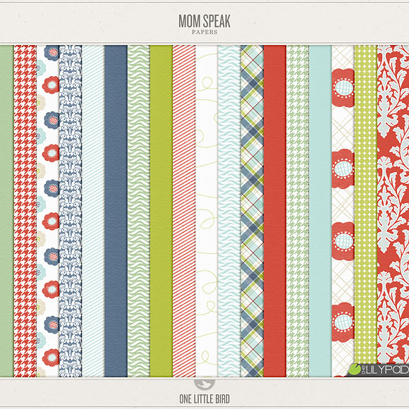 Mom Speak Digital Papers | One Little Bird