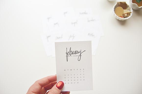 2014 Calendar Cards | Monday - Sunday Version | One Little Bird