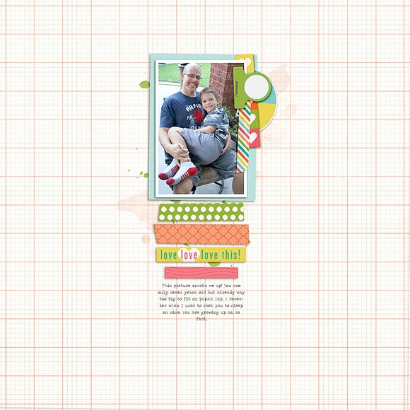 Layout by Kelly using Sweetness | One Little Bird