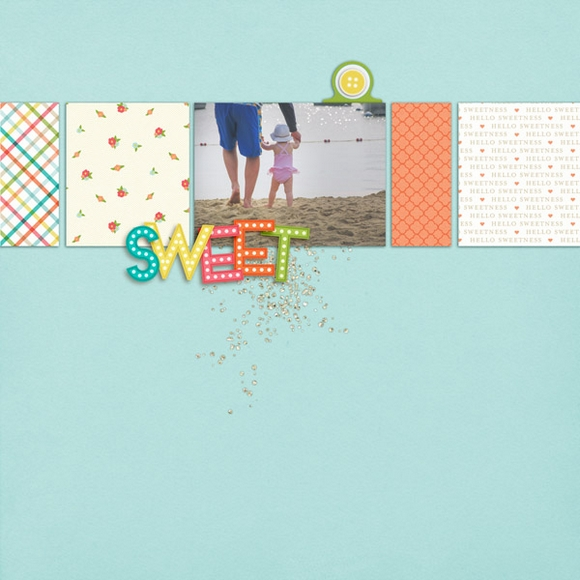 Layout by Molly using Sweetness | One Little Bird