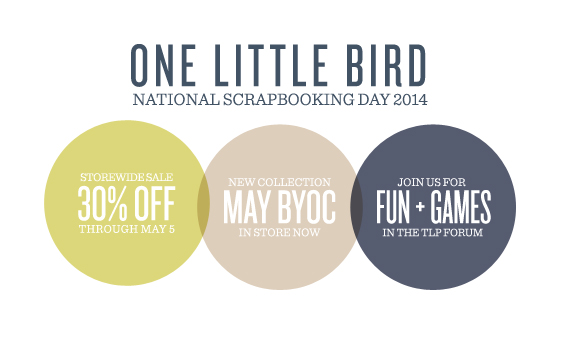 National Scrapbooking Day Sale | One Little Bird