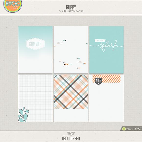 Guppy   Printable Journaling Cards   One Little Bird