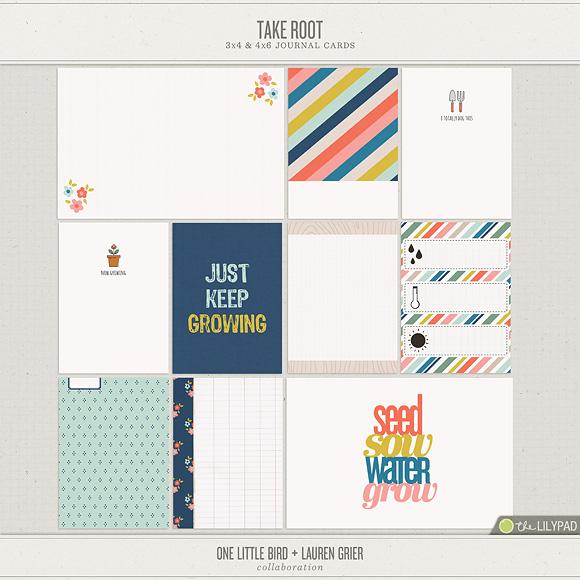 Take Root   Printable Journaling Cards   One Little Bird + Lauren Grier