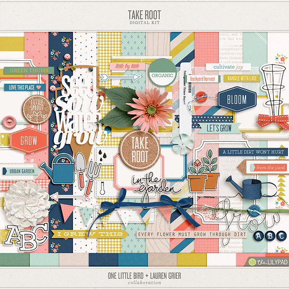 Take Root | Digital Scrapbooking Kit | One Little Bird + Lauren Grier
