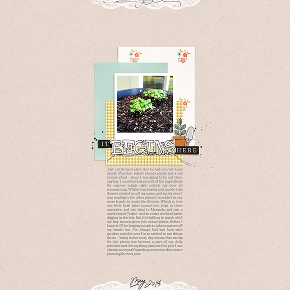 Layout by Peppermint   Take Root   One Little Bird