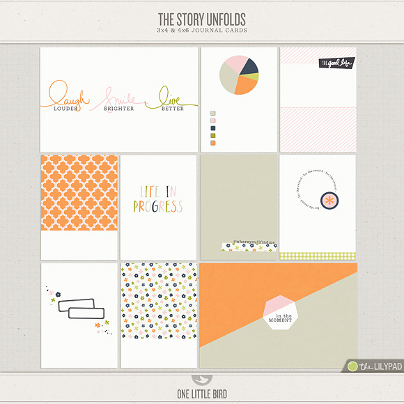 The Story Unfolds | Printable Journal Cards | One Little Bird