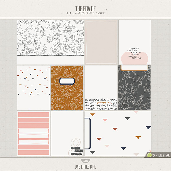 The Era Of | Printable Journal Cards | One Little Bird