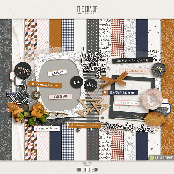 The Era Of | | Digital Scrapbooking Kit | One Little Bird