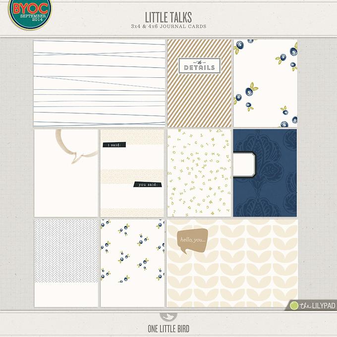 Little Talks | Printable Journal Cards | One Little Bird