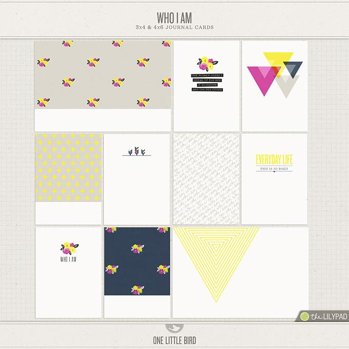 Who I Am | Journal Cards | One Little Bird