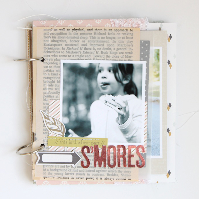 Fall Mini Album by Stephanie Bryan using Gramercy Road | One Little Bird for Gossamer Blue