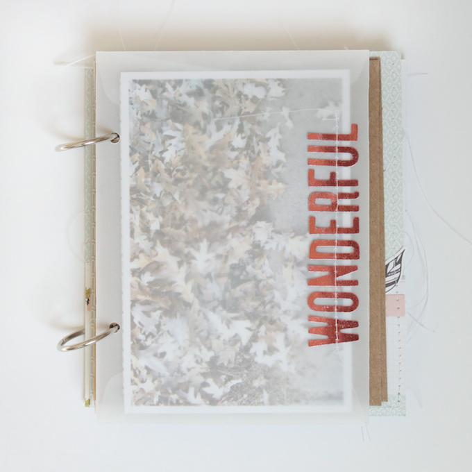Fall Mini Album by Stephanie Bryan using Gramercy Road | One Little Bird for Gossamer Blue