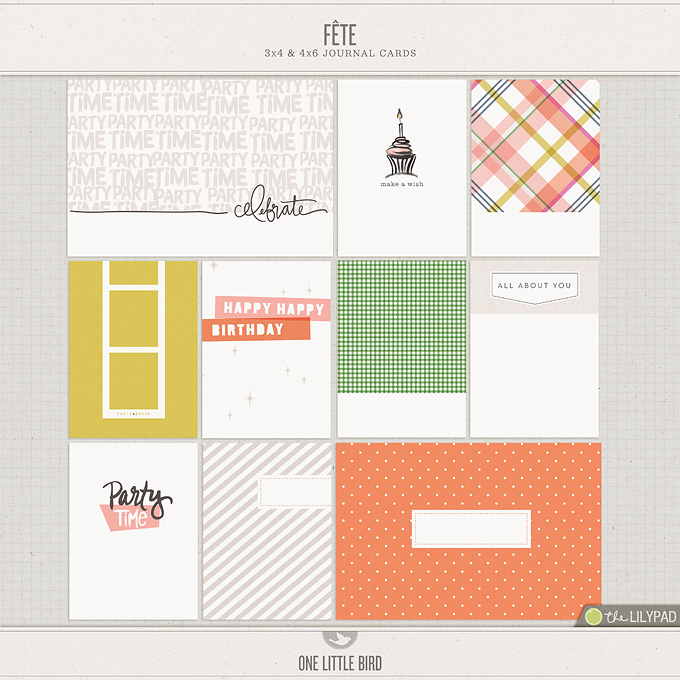Fete Printable Journal Cards | One Little Bird