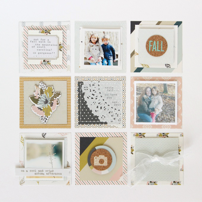 Layout by Stephanie Bryan | Gramercy Road Collection | One Little Bird for Gossamer Blue