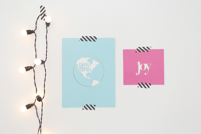 Holiday Wall Decor by Leontien | Using The Two Five (Cut Files) | One Little Bird